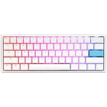Ducky One 2 Mini Pure White - RGB LED 60% ダブルショット PBTメカニカルキーボード(チェリーMXレッド)