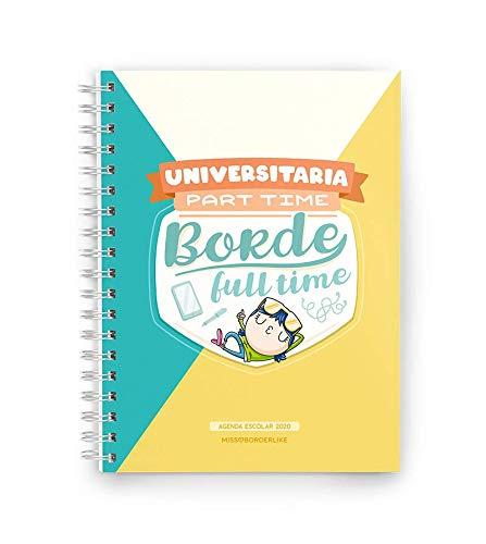 Missborderlike - Agenda escolar 2019-2020 - Universitaria part time borde full...