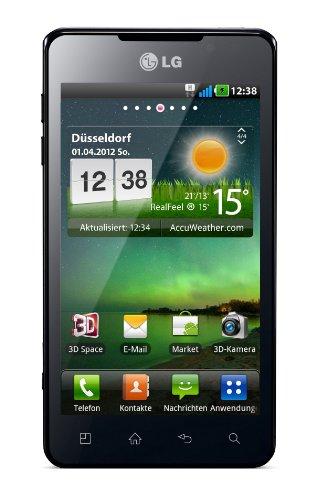 LG Optimus P720 3D Max Smartphone (10,9 cm (4,3 Zoll) Touchscreen, 5 Megapixel Kamera, Android 2.3 OS) schwarz