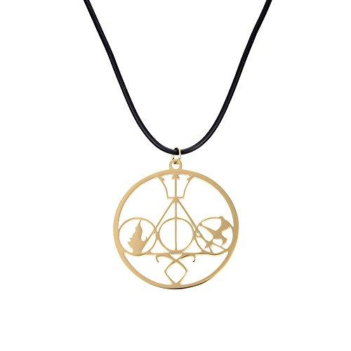 lureme Moda Movie Collar Mix The Mortal Instruments Hunger Games Divergent Percy Jackson Collar-Golden Tone (01003819-1)