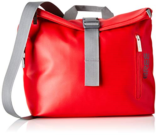 BREE Collection Unisex-Erwachsene Punch 722, Messenger S Umhängetasche, Rot (Red), 12x36x50 cm