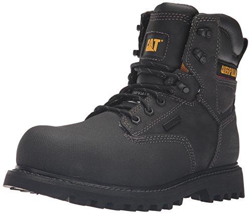 Caterpillar Creston TX Comp Toe - Zapato industrial y de construcción para hombre (15,24 cm), negro (Negro), 43.5 EU