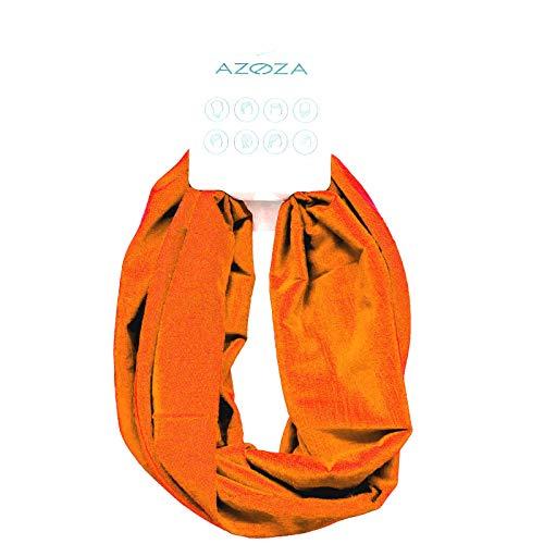 Multifunktionstuch Herren Damen Halstuch Schlauchtuch Outdoor Motorrad Fahrrad Schlauchschal Schlauch Tuch Schal (orange)