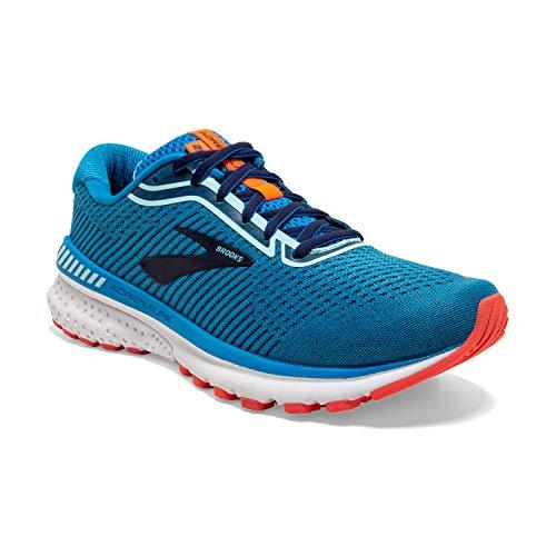 Brooks Womens Adrenaline GTS 20 Running Shoe - Blue/Navy/Coral - 2A - 6.5