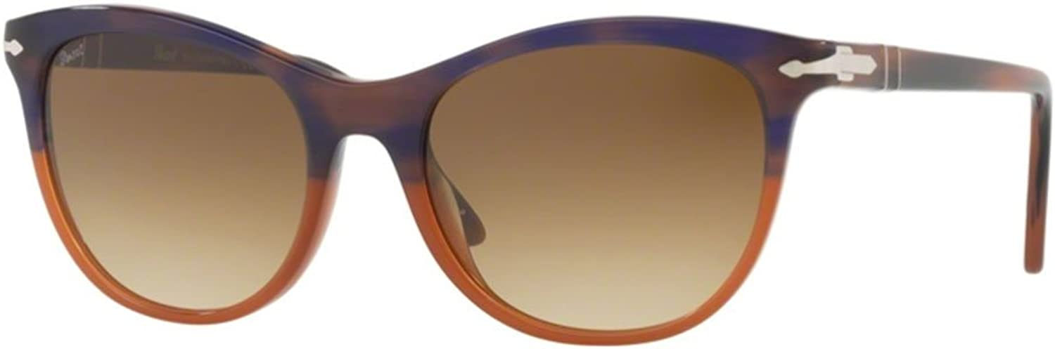 Persol OFFICINA PO 3190S blueE orange BROWN SHADED women Sunglasses