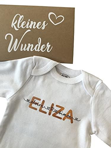 mamir home Body de bebé personalizado con nombre para niñas y pequeños nombres de los padres. • Oro rosa recién nacido. • Caja de regalo de nacimiento, bautismo, manga corta o manga larga
