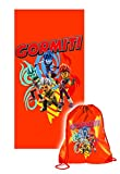 Toalla de Playa o Piscina Original Gormiti 70 x 140 cm con Bolsa Americana de...