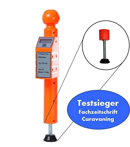 Digitale Stützlastwaage bis 150kg (orange) - Caravaning Testsieger