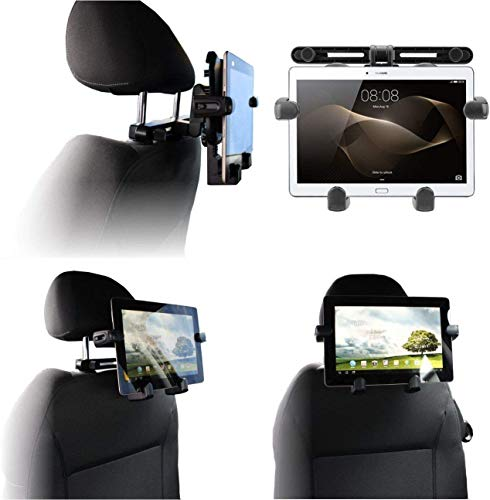 Navitech In-Car Portable Tablet Headrest Mount Compatible With Fusion5 10' Windows 10 FWIN232 PLUS S2 Tablet