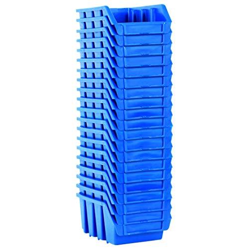 vidaXL 20x Bacs Empilables de Stockage Bac de Rangement Boîte à Outils Vis Clous Ecrous Douilles Atelier de Bricolage Garage Bleu Plastique
