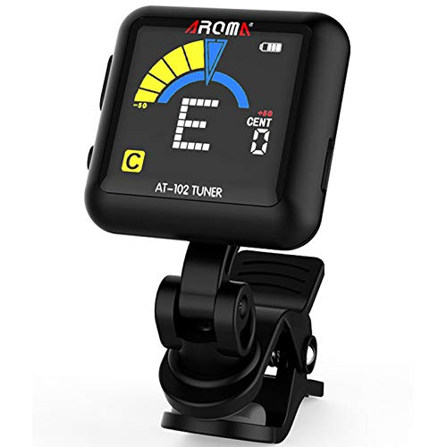 AROMA Guitar Tuner Clip-on, Rechargeable Clip On Tuner for All Instruments...