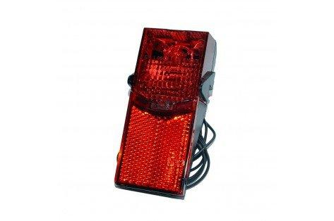 BIKE ORIGINAL Feu arrière pour éclairage à Dynamo Adulte Unisexe, Rouge, Taille Unique