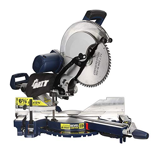 DOIT 12-Inch Dual Bevel Sliding Compound Miter Saw with Laser and LED Work Light