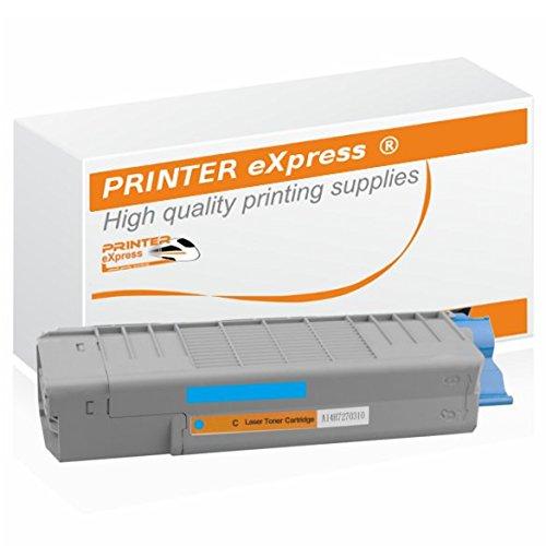 Printer-eXpress Toner ersetzt Oki 46490607, 46490403 für Oki C-532, C-532DN, C-542, C-542DN, MC-563, MC-563DN, MC-573, MC-573DN Drucker mit 6.000 Seiten Cyan