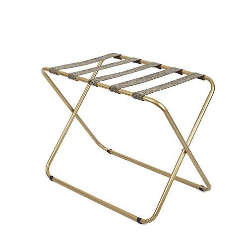 SilverwoodRhys Metal Folding Luggage Rack in Gold