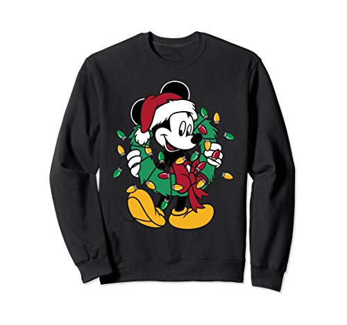 Disney Mickey Mouse Christmas Lights Pullover Sweatshirt