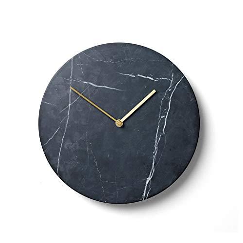 AIOJY Reloj De Mármol Minimalista Nórdico Casero Redondo Reloj De Pared