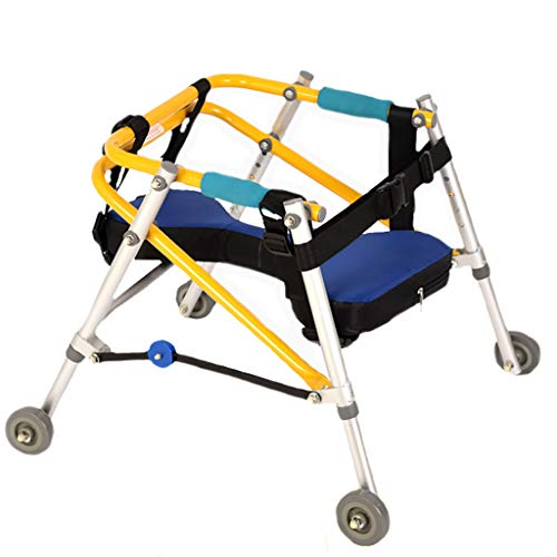 GLJJQMY Andador de Entrenamiento para Caminantes Caminante de Cuatro Ruedas direccional para niños caminador de parálisis Cerebral Silla de Ruedas (Size : XXL)