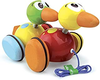 Vilac 1821 2 Waddle Ducks Pull Toy