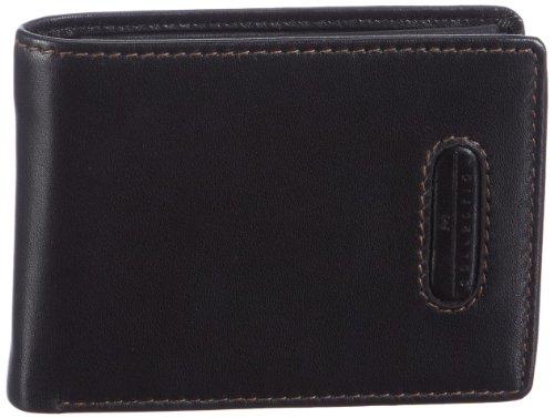 M-Collection Merlin Portemonnaie (QF) 4900000297, Unisex-Erwachsene Geldbörsen, Schwarz (black 900), 10x7x1 cm (B x H x T)