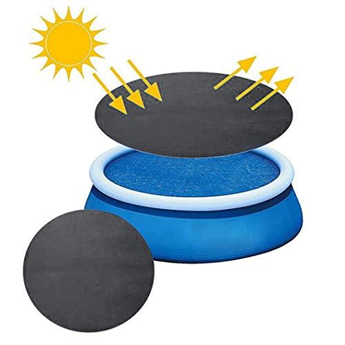 Poolabdeckungen Round Pool Cover,Staub Pool Abdeckung Schutz Solar Abdeckung für runde Rahmenpools, Poolabdeckung für runde aufblasbare Pools über dem Boden (D-4.5m)