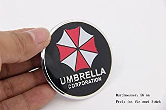 R274 Umbrella Corporation 4 Piece Wheel Cover Black 3D Emblem Mobile car Sticker hub Cap hubcaps hub caps 56 mm