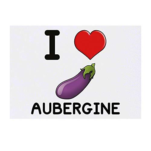 Grand 'I Love Aubergine' Tatouages temporaires (TO00001259)