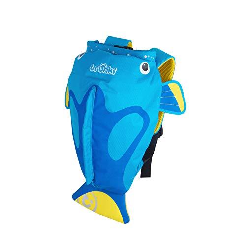 Trunki PaddlePak: Mochila infantil impermeable para piscina y gimnasio  Azul  37 x 29