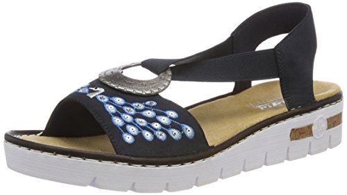 Rieker Damen 610D2 Geschlossene Sandalen, Blau (Pazifik), 39 EU