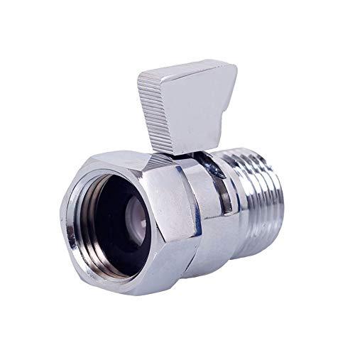 G1/2 pulgadas de cobre cabezal de ducha interruptor de control de flujo de apagado válvula de ahorro de agua válvula para cabezal de ducha de mano bidé pulverizador tubo