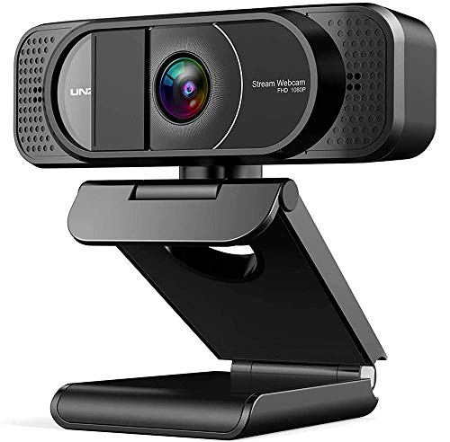 FHD 1080P Webcam, Streaming USB Camera with Dual Microphone and Privacy Cover, Webcam for Desktop PC Laptop Recording and Online Teaching, Plug & Play