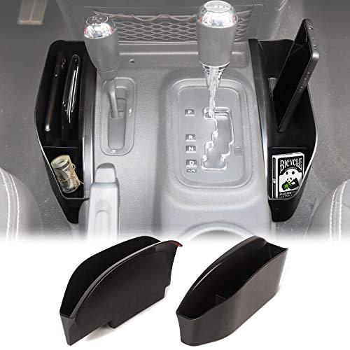 JeCar Gear Shift Storage Box Center Console Storage Auto Transmission Organizer Tray Interior Accessories for 2011-2018 Jeep Wrangler JK JKU, Black