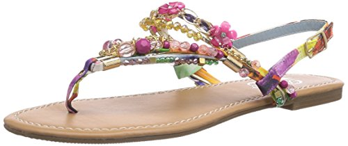 Buffalo Shoes Damen 313560 Zehentrenner, Mehrfarbig (Purple 97), 40