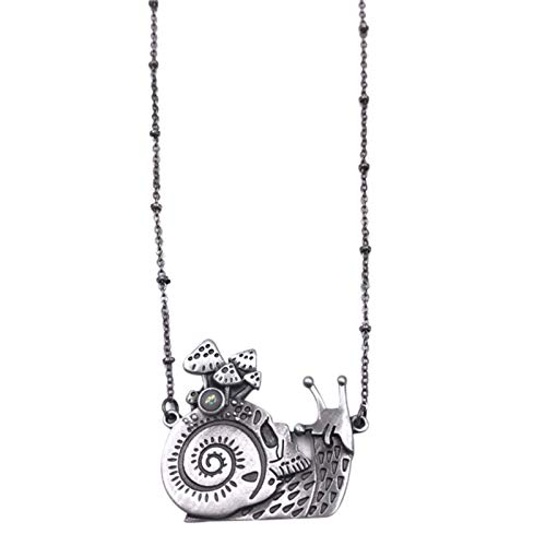 ZS ZHISHANG Death Snail Necklace Cute Animal Shape Alloy Jewelry Gifts for Girl Women Simple