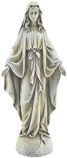 concrete virgin mary statue