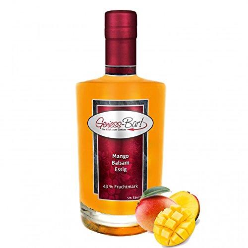 Exotischer Mango Balsam Essig mit 43% Fruchtmark 0,7L vollfruchtig & sehr mild 5% Säure