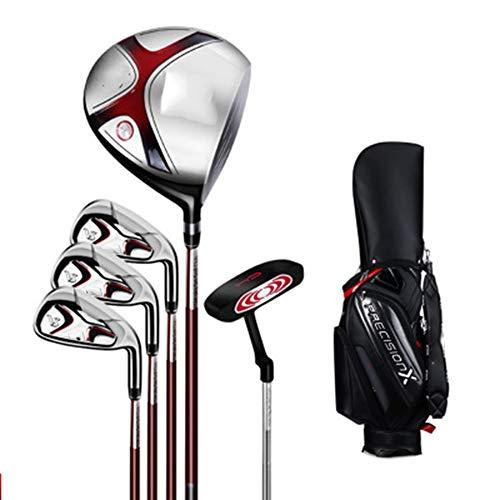 Mitrc Golfschläger-Set, Rechtshänder-Golfschläger-Set mit Tasche BEG Herren-Einsteiger-Halbsatz mit 5 Polen Carbonschaft + Gummi-Griff