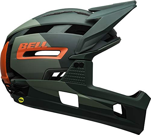BELL Super Air R MIPS Adult Mountain Bike Helmet - Matte/Gloss Green/Infrared (2021), Small (52-56 cm)