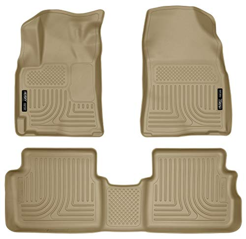 Husky Liners Fits 2009-10 Pontiac Vibe, 2009-13 Toyota Corolla, 2009-13 Toyota Matrix - Front Wheel Drive with Automatic Transmission Weatherbeater Front & 2nd Seat Floor Mats