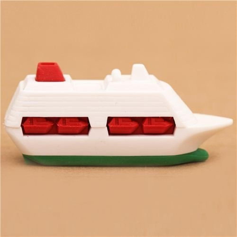 Green ship boat vehicle eraser by Iwako by Iwako