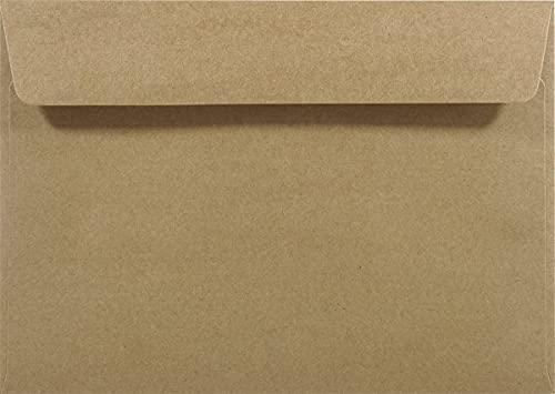 Netuno 25 buste da lettere riciclate marroni C5 162x229mm 100g buste in carta riciclata taglio dritto con strip adesivo buste Kraft a5 buste vintage per partecipazioni ringraziamento inviti feste