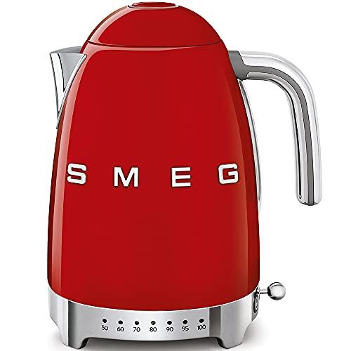 Smeg Calentador de Agua electrico, hervidor KLF04RDEU, 2400 W, 12 litros, plástico, Rojo