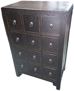 Antique armoire à pharmacie Armoire Armoire de bureau Pharmacie Armoire Commode Commode Armoire Buffet avec 12tiroirs bre...