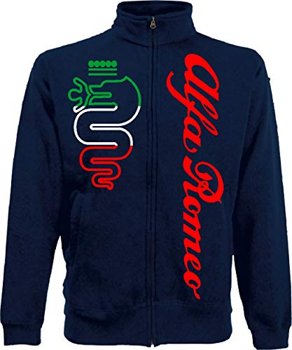 Generico Herren Sweatshirt Alfa Romeo World Rally Team Car STI Tuner Jacket, Blau Large