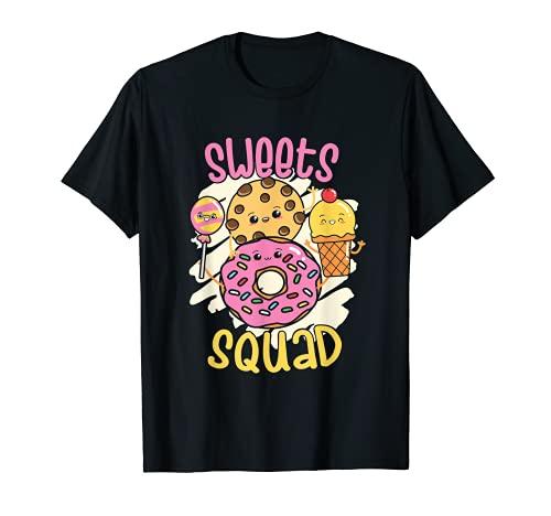Sweets Squad Donut Cookie Lollipop Helado Camiseta