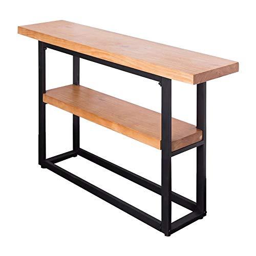 VBARV Stehendes Präsentationsregal im Industriestil, zweischichtiges Regal am Eingang, geeignet für die Küche Wohnzimmer Wohnzimmer Veranda Tisch Schmiedeeisen Lagerregal