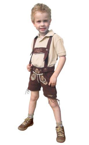 Mogo.cc, Kinderlederhose TÖDI aus BW,98/104,Stick beige