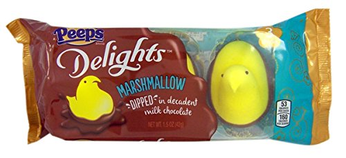 2 Pack  Milk Chocolate Dipped Marshmallow Peeps Yellow Chicks 6 Count Total
