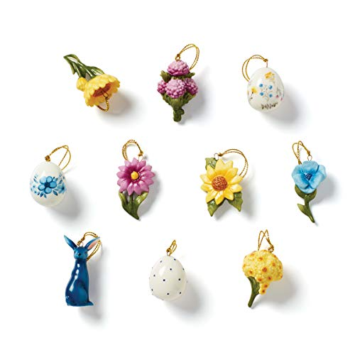 Lenox Easter Floral 10-Piece Ornament Set, Multicolor, 0.45 LB