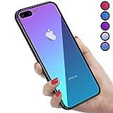 iPhone8Plus ケース iPhone7Plus ケース 強化ガラス 9H硬度加工 ガラスケース 薄型 全透明グラ……